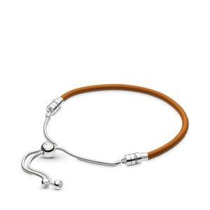 Pandora Sliding Brown Leather Bracelet